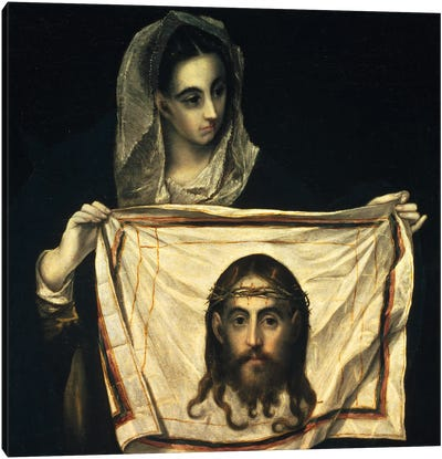 St. Veronica With The Holy Shroud Canvas Art Print