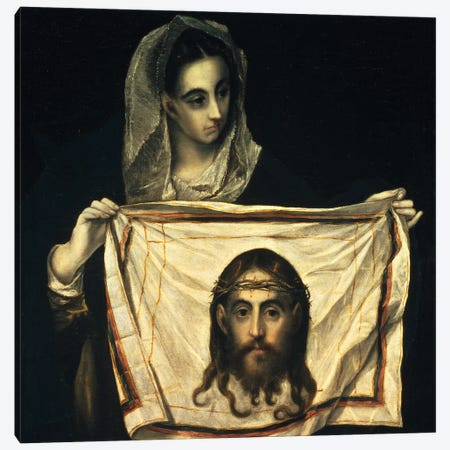 St. Veronica With The Holy Shroud Canvas Print #BMN6209} by El Greco Art Print