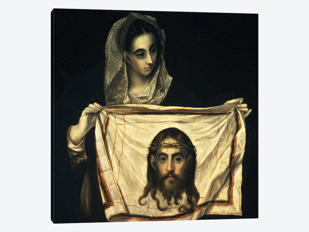 St. Veronica With The Holy Shroud by El Greco 1-piece Art Print