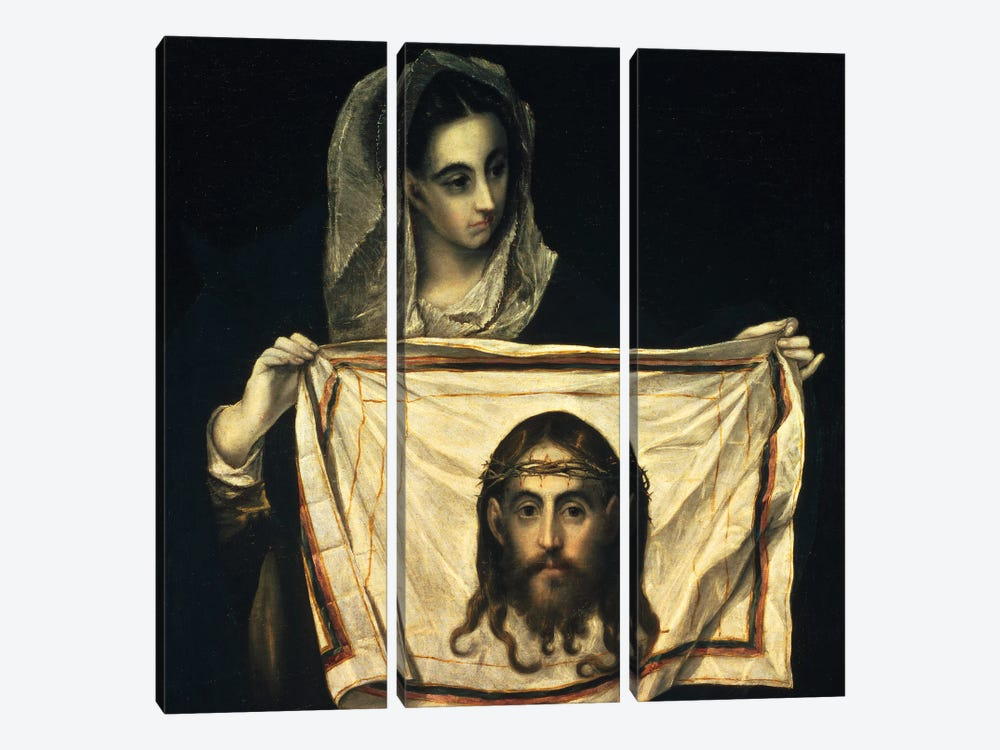St. Veronica With The Holy Shroud by El Greco 3-piece Art Print