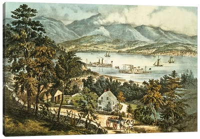 The Catskill Mountains from the Eastern shore of the Hudson  Canvas Art Print