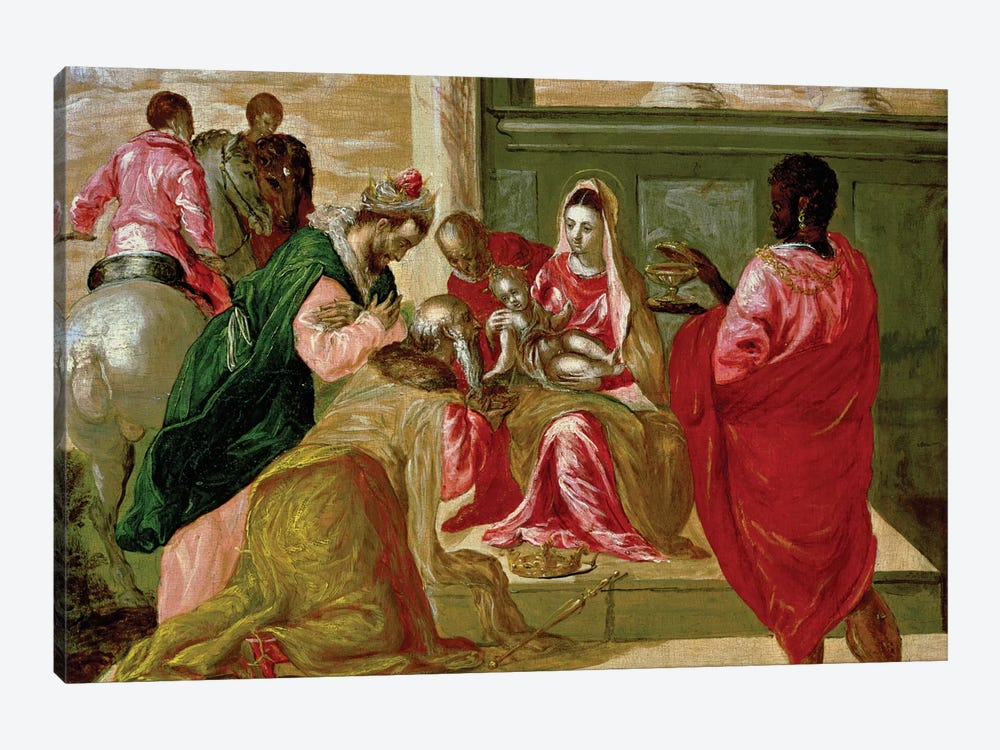 The Adoration Of The Magi, 1567-70 by El Greco 1-piece Canvas Art Print