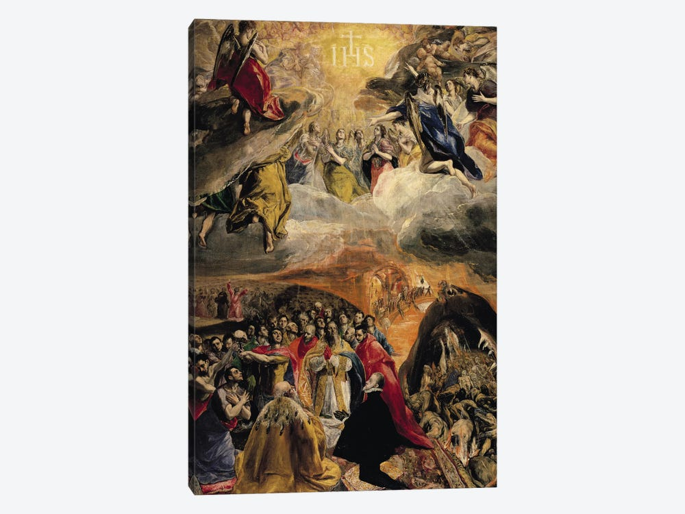The Adoration Of The Name Of Jesus, c.1578 (Monasterio de El Escorial) by El Greco 1-piece Canvas Wall Art