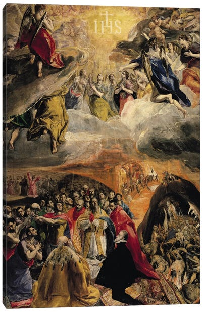 The Adoration Of The Name Of Jesus, c.1578 (Monasterio de El Escorial) Canvas Art Print