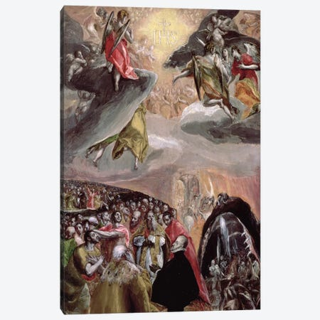 The Adoration Of The Name Of Jesus, c.1578 (National Gallery - London) Canvas Print #BMN6212} by El Greco Canvas Artwork