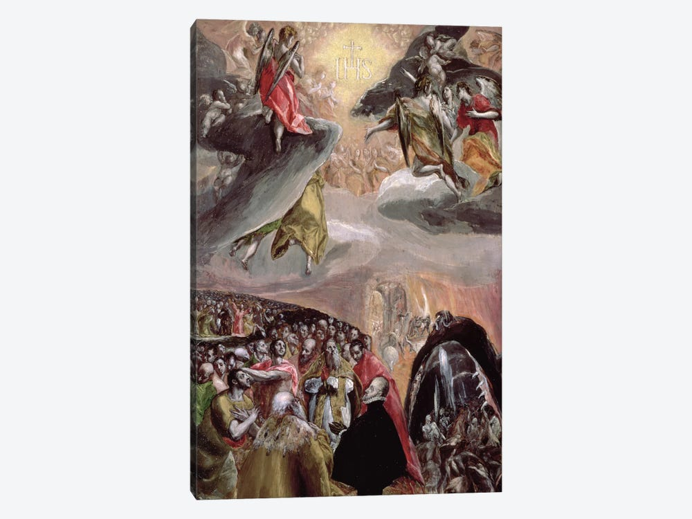 The Adoration Of The Name Of Jesus, c.1578 (National Gallery - London) by El Greco 1-piece Art Print