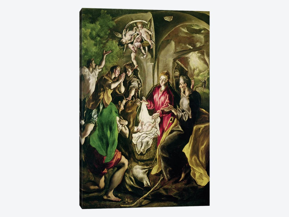 The Adoration Of The Shepherds, 1603-05 (Museo del Patriarca) by El Greco 1-piece Canvas Art