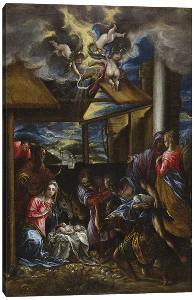 The Adoration Of The Shepherds, c.1576-77 (San Diego Museum Of Art) Canvas Art Print