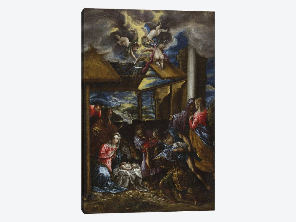 The Adoration Of The Shepherds, c.1576-77 (San Diego Museum Of Art) by El Greco 1-piece Canvas Art Print
