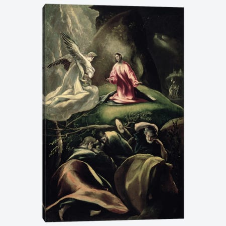 The Agony In The Garden (Museum Of Fine Arts - Budapest) Canvas Print #BMN6217} by El Greco Canvas Art Print