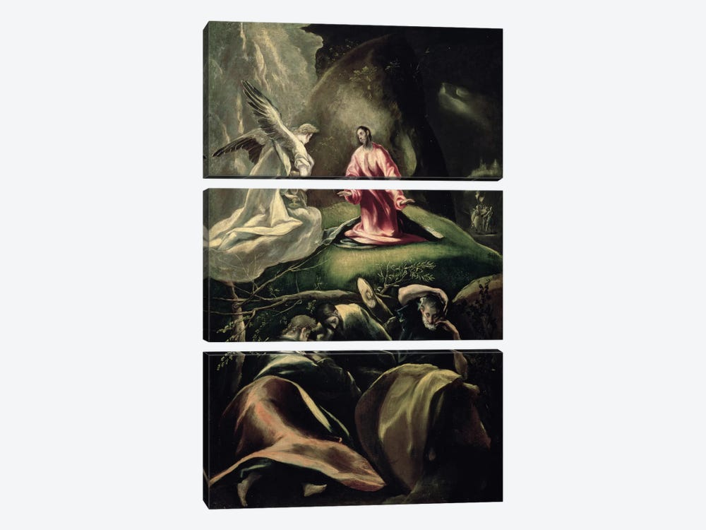 The Agony In The Garden (Museum Of Fine Arts - Budapest) by El Greco 3-piece Canvas Artwork
