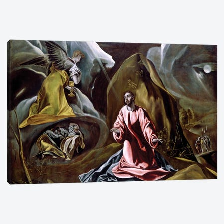 The Agony In The Garden, c.1610 (National Gallery - London) Canvas Print #BMN6218} by El Greco Canvas Art