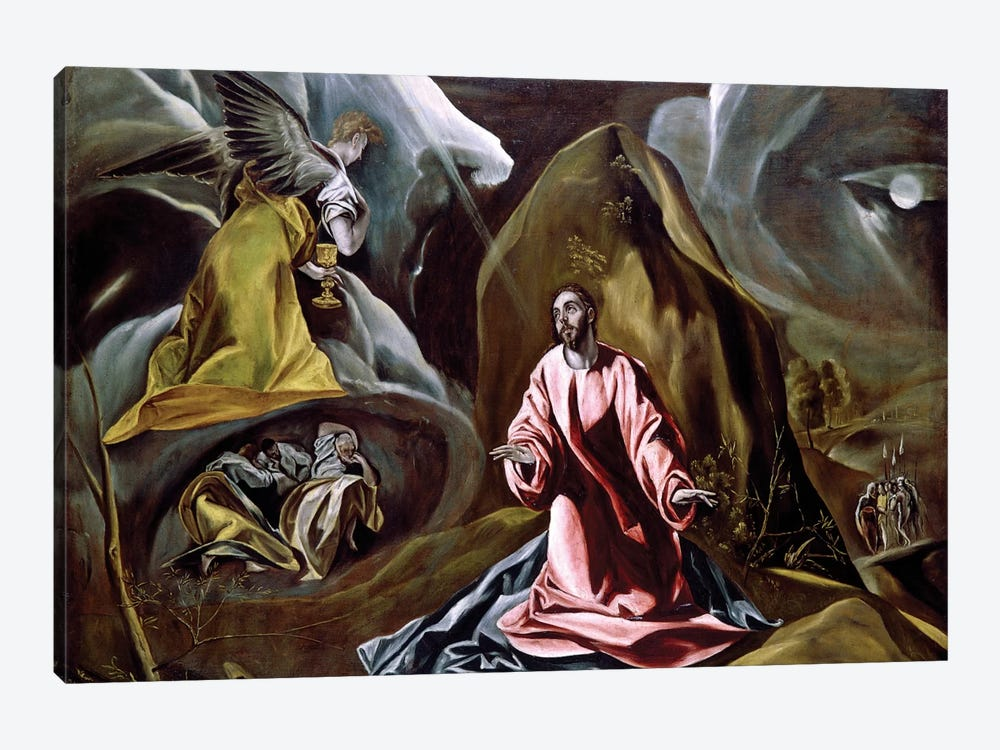 The Agony In The Garden, c.1610 (National Gallery - London) by El Greco 1-piece Canvas Print