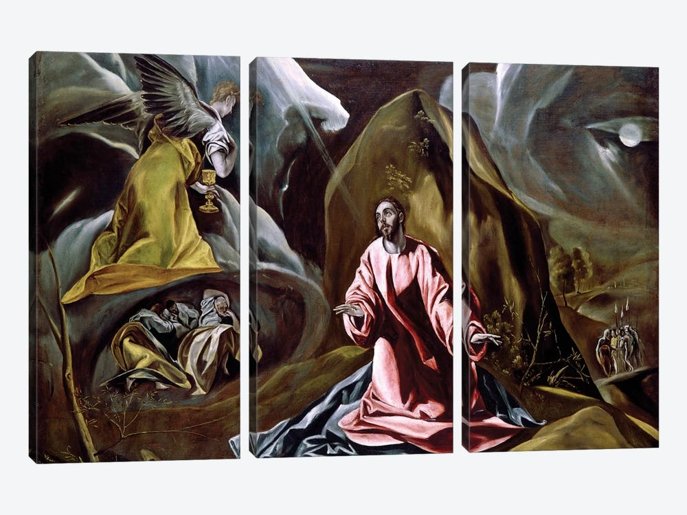 The Agony In The Garden, c.1610 (National Gallery - London) by El Greco 3-piece Art Print