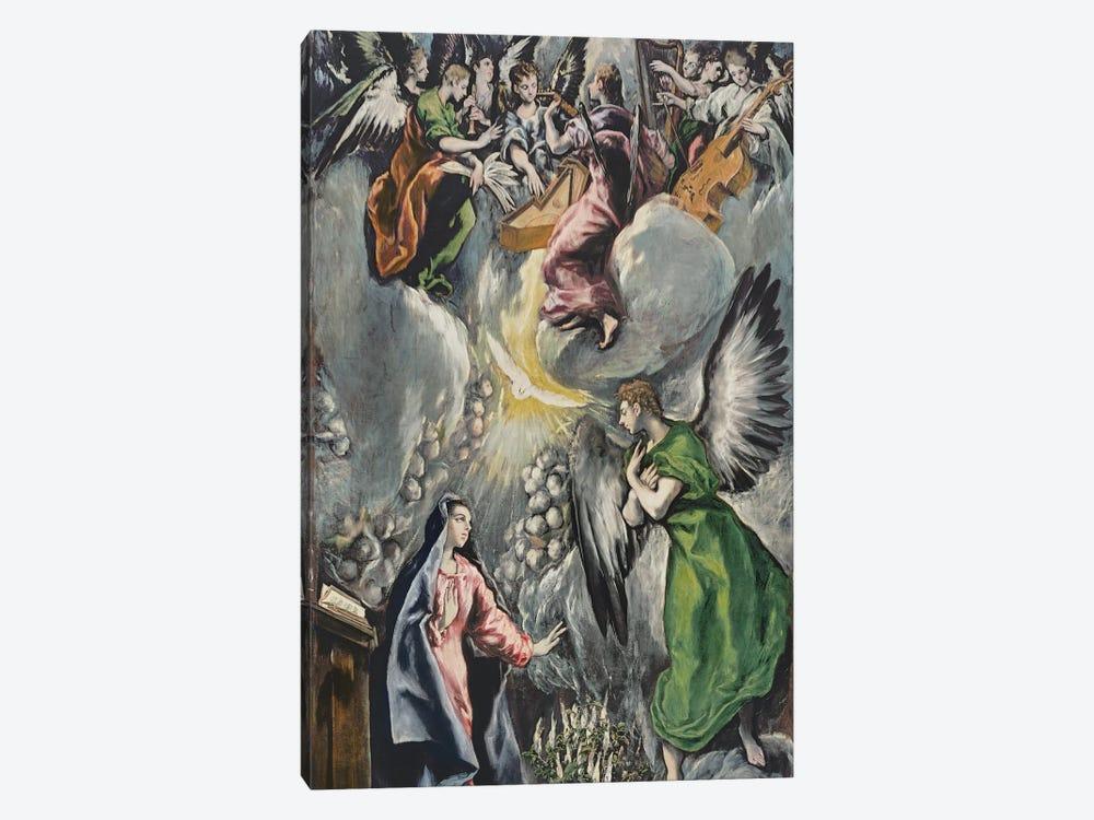 The Annunciation (Museo del Prado) by El Greco 1-piece Canvas Artwork