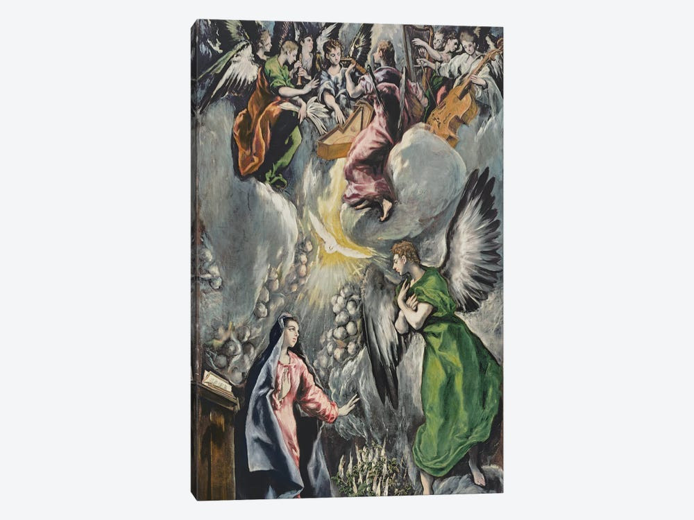 The Annunciation (Museo del Prado) by El Greco 1-piece Canvas Artwork