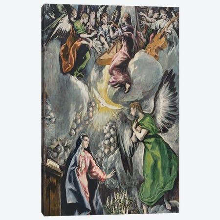 The Annunciation (Museo del Prado) Canvas Print #BMN6220} by El Greco Canvas Print
