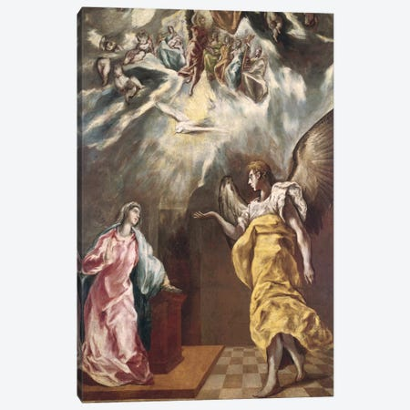The Annunciation (Private Collection) Canvas Print #BMN6221} by El Greco Canvas Print