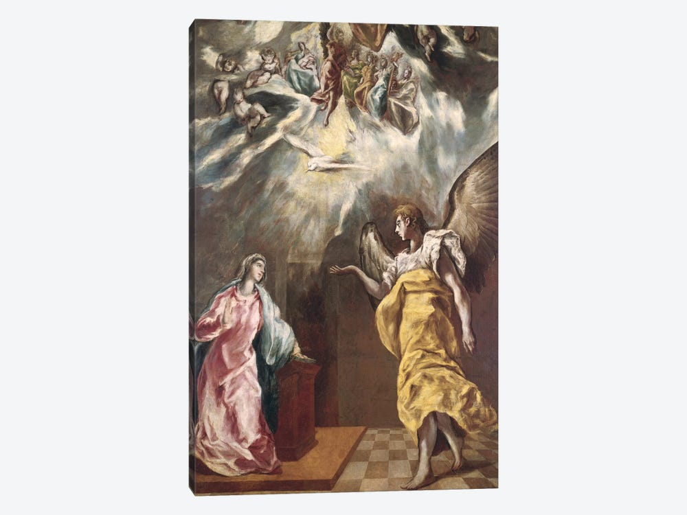 The Annunciation (Private Collection) by El Greco 1-piece Art Print