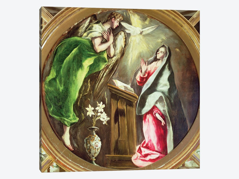 The Annunciation, 1597-1603 (Hospital de la Caridad) by El Greco 1-piece Canvas Art Print