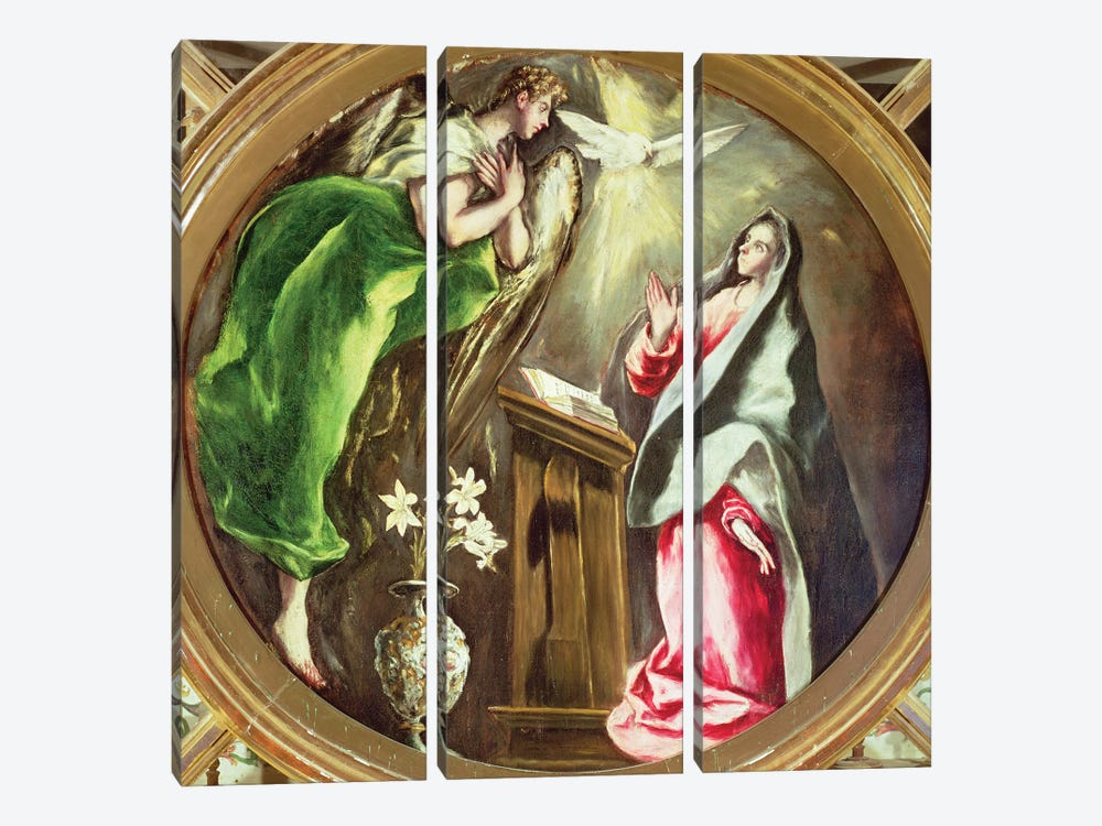 The Annunciation, 1597-1603 (Hospital de la Caridad) by El Greco 3-piece Art Print