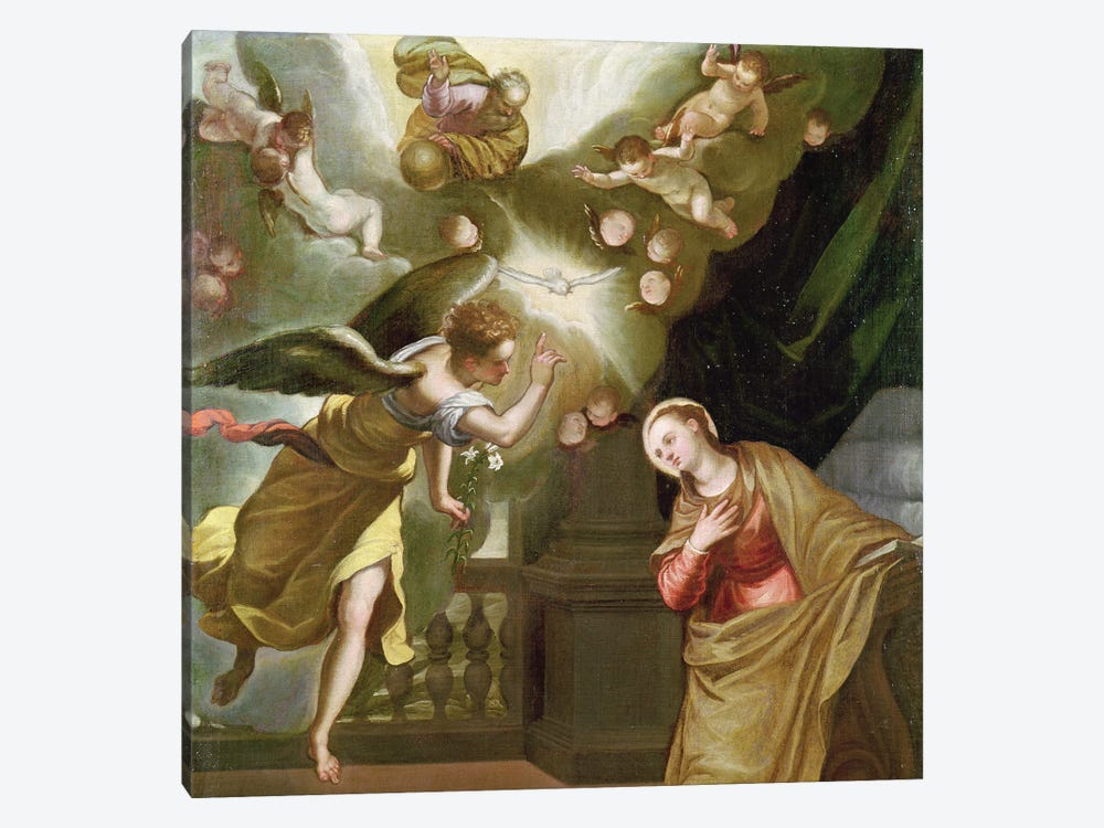The Annunciation, c.1565 (Private Collection) by El Greco 1-piece Canvas Art