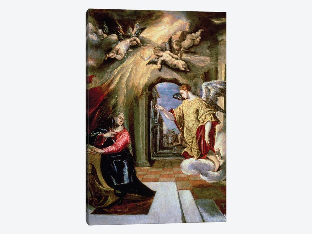 The Annunciation, c.1570-73 (Museo del Prado) by El Greco 1-piece Canvas Print
