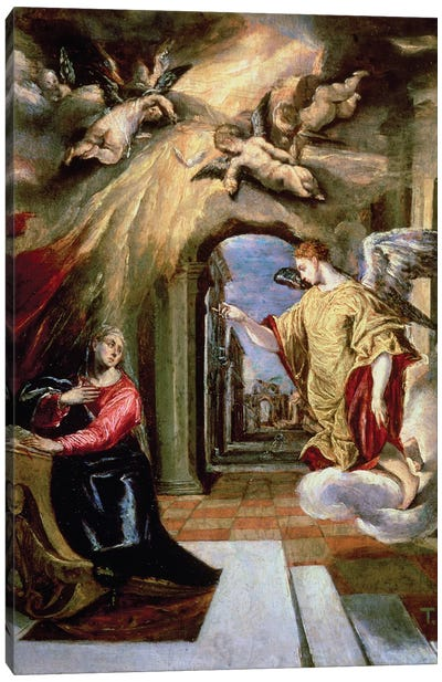 The Annunciation, c.1570-73 (Museo del Prado) Canvas Art Print