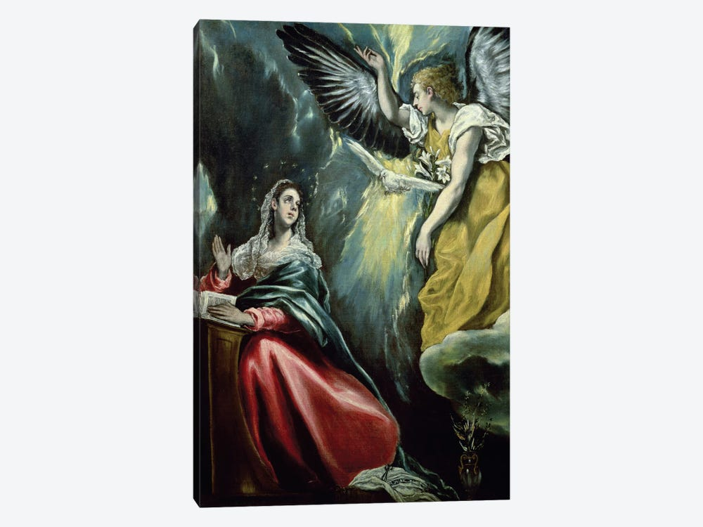 The Annunciation, c.1575 (Private Collection) by El Greco 1-piece Canvas Art