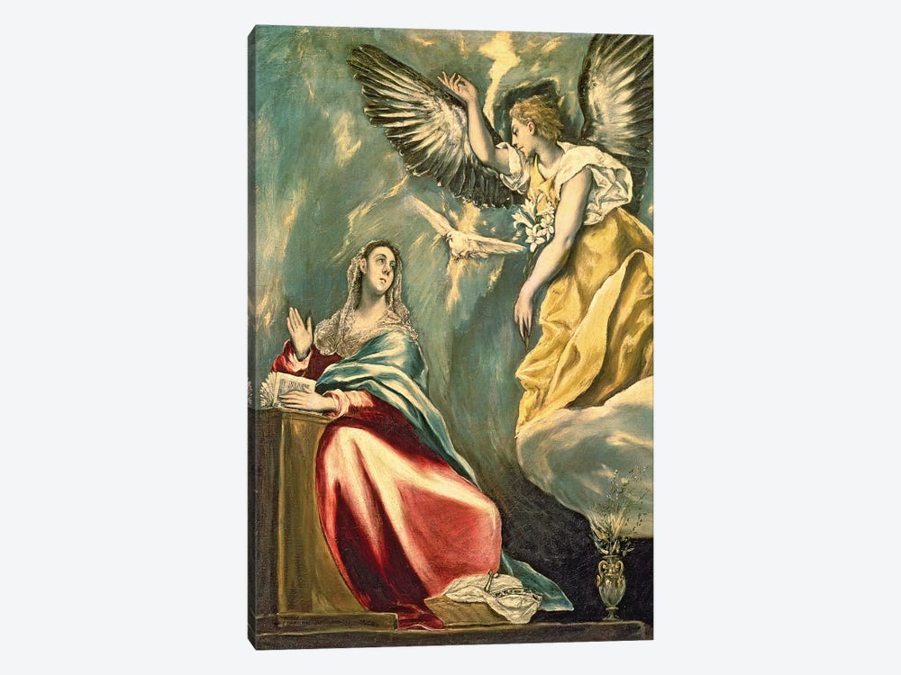 The Annunciation, c.1595-1600 (Museum Of Fine Arts - Budapest) by El Greco 1-piece Canvas Print