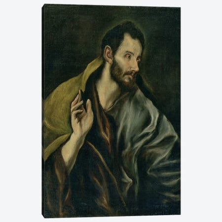 The Apostle Thomas Canvas Print #BMN6228} by El Greco Art Print