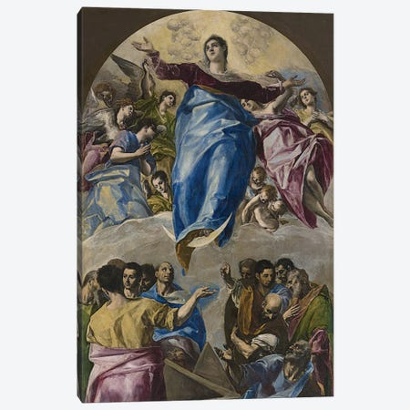 The Assumption Of The Virgin, 1577-79 (Art Institute Of Chicago) Canvas Print #BMN6229} by El Greco Canvas Art Print