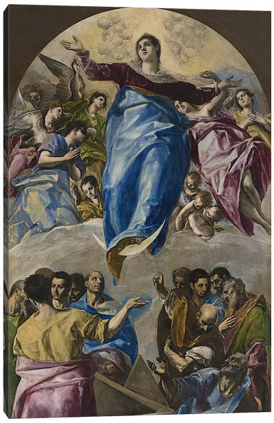 The Assumption Of The Virgin, 1577-79 (Art Institute Of Chicago) Canvas Print #BMN6229
