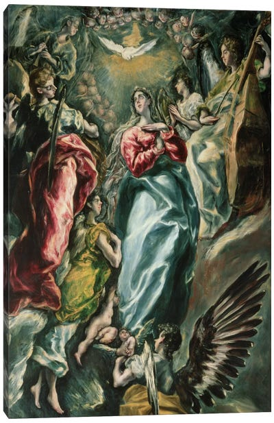 The Assumption Of The Virgin, 1607-13 (Museo de Santa Cruz) Canvas Art Print