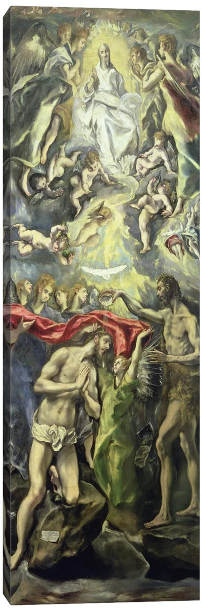 The Baptism Of Christ, c.1597 (Museo del Prado) Canvas Art Print