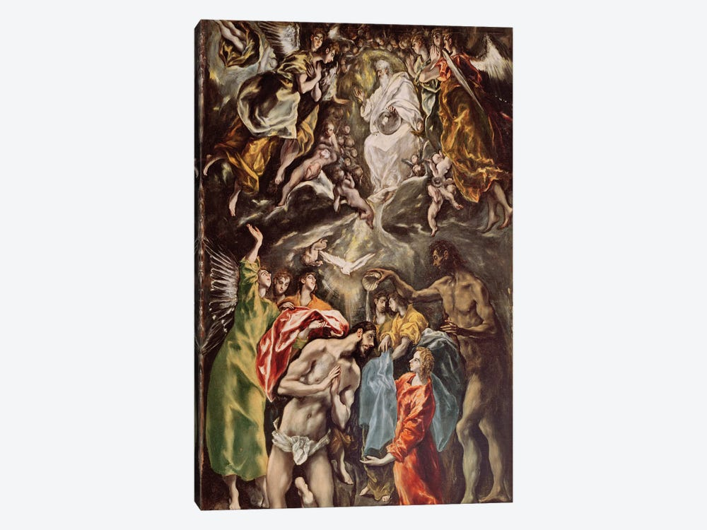 The Baptism Of Christ, c.1608-14 (Hospital de Tavera) by El Greco 1-piece Canvas Artwork