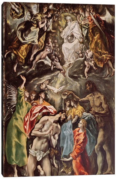 The Baptism Of Christ, c.1608-14 (Hospital de Tavera) Canvas Art Print