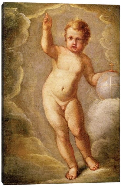 The Christ Child (Savior Of The Earth), c.1565 Canvas Art Print