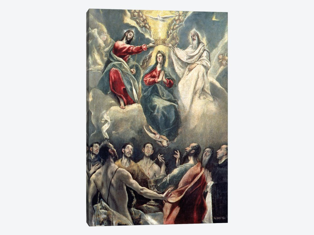 The Coronation Of The Virgin (Museo de Santa Cruz) by El Greco 1-piece Canvas Print