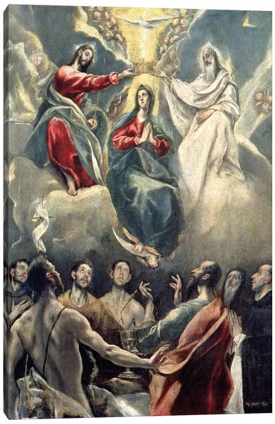 The Coronation Of The Virgin (Museo de Santa Cruz) Canvas Art Print