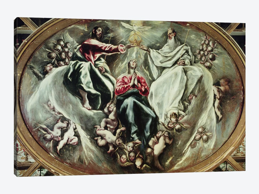 The Coronation Of The Virgin, 1597-1603 (Hospital de la Caridad) by El Greco 1-piece Canvas Artwork