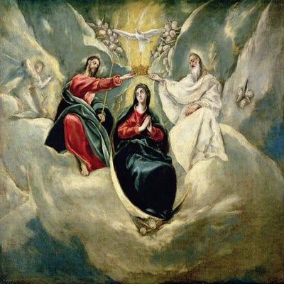 Stile Peplo Greco: The Coronation Of The Virgin, C.1591-92 (Museo Del