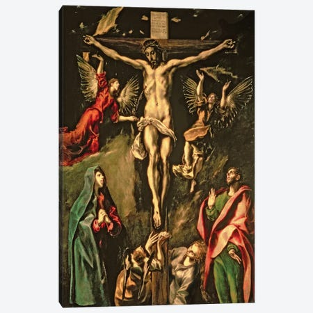 The Crucifixion, c.1584-1600 (Museo del Prado) Canvas Print #BMN6240} by El Greco Art Print