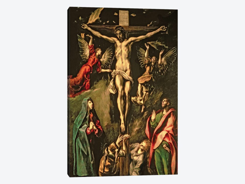 The Crucifixion, c.1584-1600 (Museo del Prado) by El Greco 1-piece Canvas Wall Art