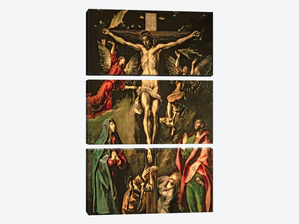 The Crucifixion, c.1584-1600 (Museo del Prado) by El Greco 3-piece Canvas Art