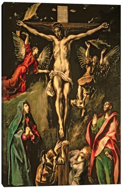 The Crucifixion, c.1584-1600 (Museo del Prado) Canvas Art Print