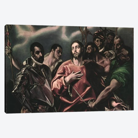 The Disrobing Of Christ (Museum Of Fine Arts - Budapest) Canvas Print #BMN6241} by El Greco Art Print