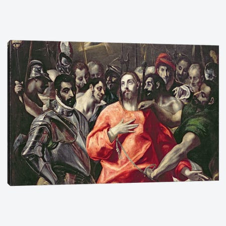 The Disrobing Of Christ (National Museum Wales) Canvas Print #BMN6242} by El Greco Canvas Art Print
