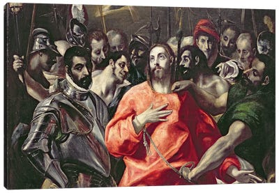 The Disrobing Of Christ (National Museum Wales) Canvas Print #BMN6242