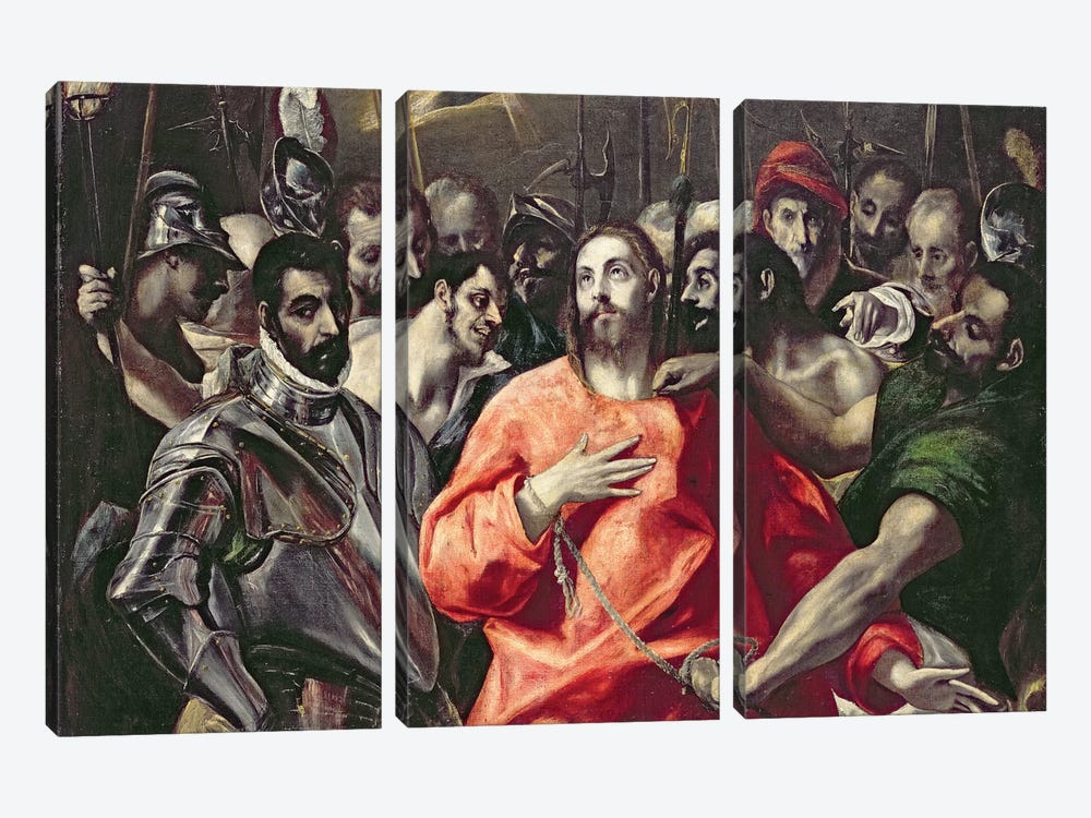 The Disrobing Of Christ (National Museum Wales) by El Greco 3-piece Canvas Art
